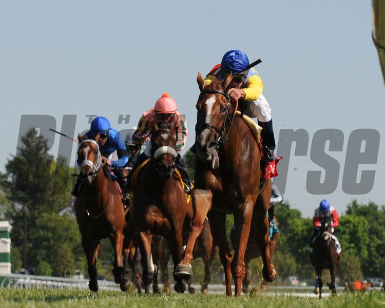 Keeneland Race Course; Lexington; KY 4/19/12; DayattheSpa, Javier Castellano up , wins the Appalachian Stakes.<br /> photo by Mathea Kelley