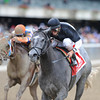 The Lumber Guy wins the 2012 Vosburgh.<br /> Coglianese Photos/Adam Mooshian