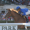 Hessonite wins the 2012 Ticonderoga.<br /> Coglianese Photos/Adam Mooshian