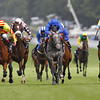 Goodwood August 2, 2012 The Goodwood Cup<br /> Saddlers Rock (yellow red) wins from Askar Tau (right) and Colour Vision (Blue)<br /> Photo by: Trevor Jones