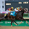 Caption:   Believe You Can with Rosie Napravnik wins the Kentucky Oaks (gr. I)<br /> Kentucky Derby and Kentucky Oaks contenders on the track at Churchill Downs near Louisville, Ky. on May 3, 2012.<br /> Oaks1  image566<br /> PHoto by Anne M. Eberhardt