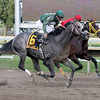 Well Spelled w/Pablo Fragoso up beat Trinniberg w/Willie Martinez up to win the 22nd Running of the Gallant Bob Stakes at Parx on September 22, 2012.<br /> Photo by Chad B. Harmon