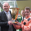 Peter Moody and Luke Nolen after Black Caviar wins the Diamond Jubilee Stakes.<br /> Photo by Trevor Jones