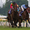 Strong Return wins the 2012 Yasuda Kinen.<br /> Kate Hunter Photo