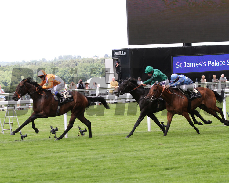 most improved, kieran fallon  up wins the st james place stakes royal ascot; 6/19/12 photo by trevor jones;