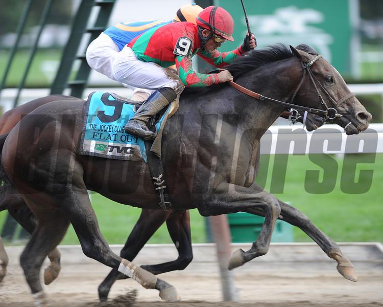Flat Out wins the 2012 Jockey Club Gold Cup.<br /> Coglianese Photos/David Alcosser