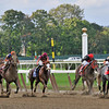 The Lumber Guy, John Velazquez up, holds off the late run of Caixa Electronica (#8 outside) to win the Gr1 Vosburgh Invitational at Belmont...<br /> © 2012 Rick Samuels/The Blood-Horse