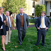 Caption: Stuart Janney, second right, with trainer Shug McGaughey, second left, in the paddock<br /> Wise Dan with Jose Lezcano up wins the Shadwell Turf Mile (gr. I) at Keeneland on Oct. 6, 2012.<br /> Keeneland<br /> ShadwellTurfMile2  image 225<br /> Photo by Anne M. Eberhardt
