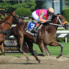 Bern Identity wins the Sanford Stakes.<br /> Photo by Coglianese Photos