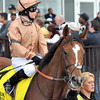 I'm A Dreamer, Hayley Turner up, Fourth place finisher in the Gr1 Flower Bowl Invitational at Belmont...<br /> © 2012 Rick Samuels/The Blood-Horse