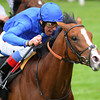 Tha'ir and Frankie Dettori win the Chesham Stakes at the Royal Ascot on June 23, 2012. <br /> Photo by: Mathea Kelley