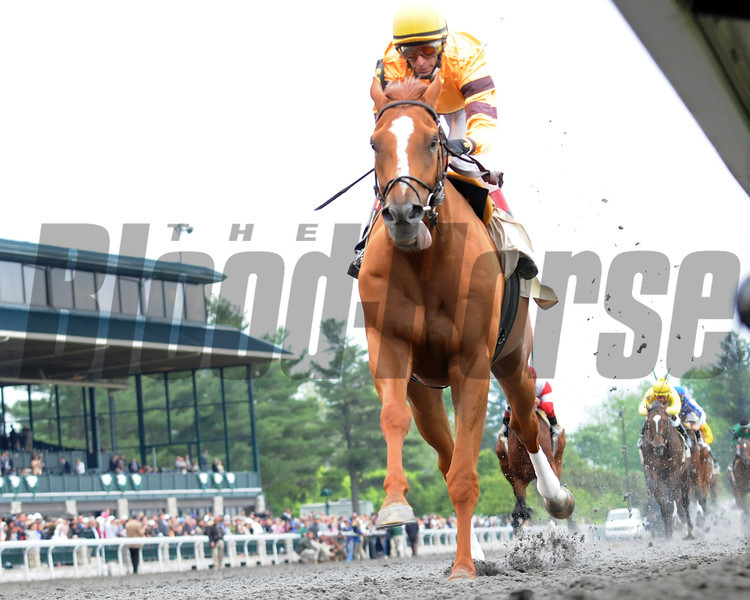 Keeneland Race Course; Lexington; KY 4/22/12; Wise Dan wins the Ben Ali Stakes.<br /> Photo by Mathea Kelley