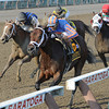 Turbulent Descent wins the 2012 Ballerina. <br /> Coglianese Photos/Courtney Stafford