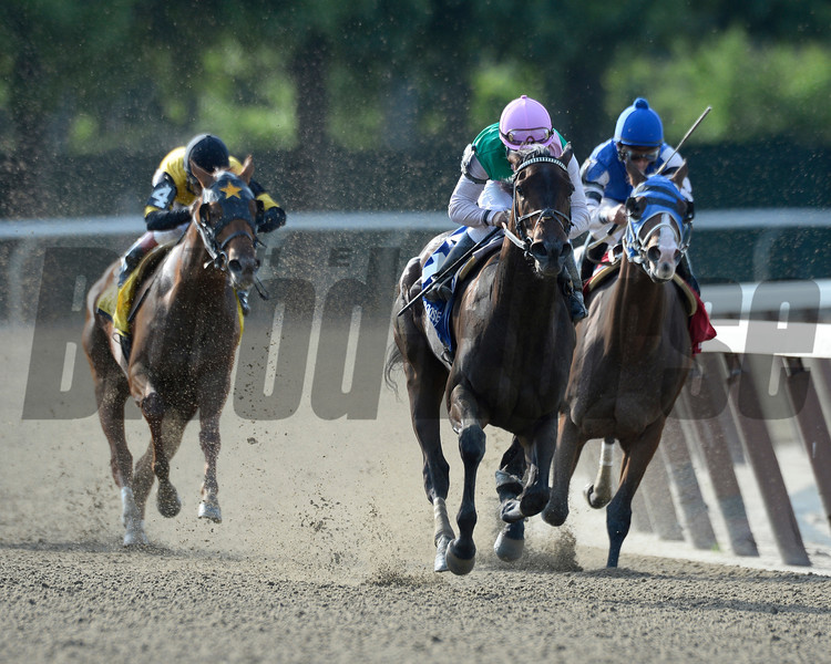 Close Hatches wins the 2013 Mother Goose.<br /> Coglianese Photos