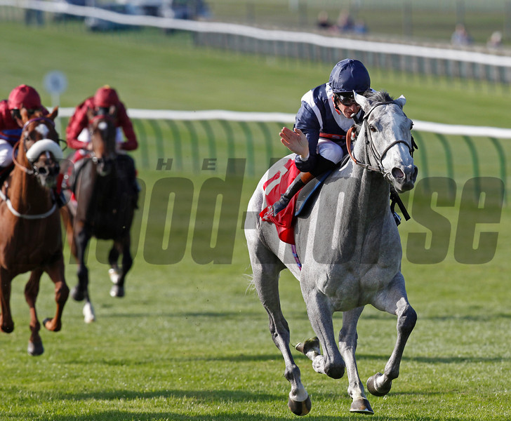 Racing from Newmarket, The Sun Chariot Stakes 28/9/13<br /> Sky Lantern wins comfortably<br /> Trevor Jones Photo