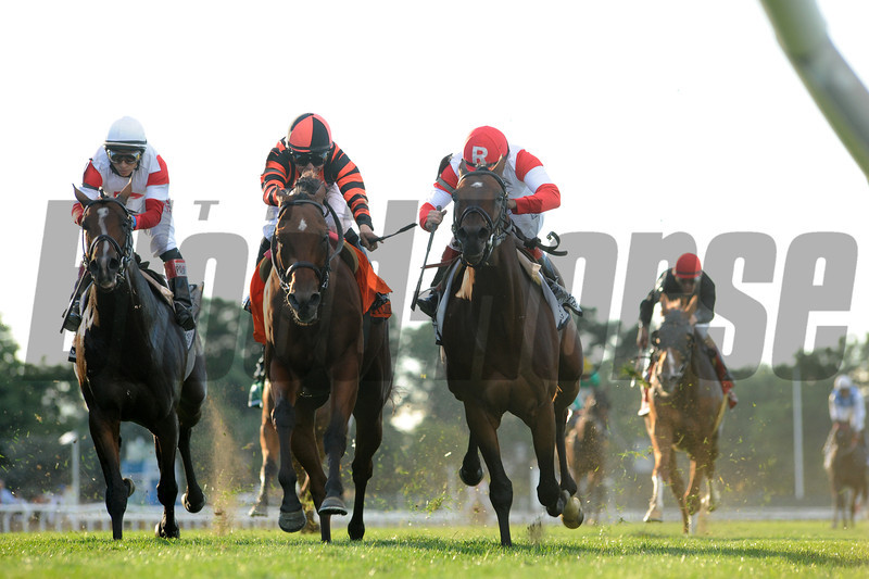 Little Mike wins the 2013 Joe Hirsch.<br /> Coglianese Photos