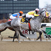 Head Heart Hoof wins the 2013 Toboggan Stakes.<br /> Coglianese Photos