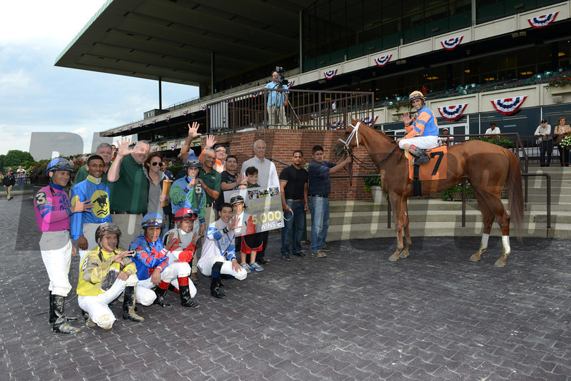 John Velazquez' 5000th North American Win, June 14, 2013.<br /> Coglianese Photos