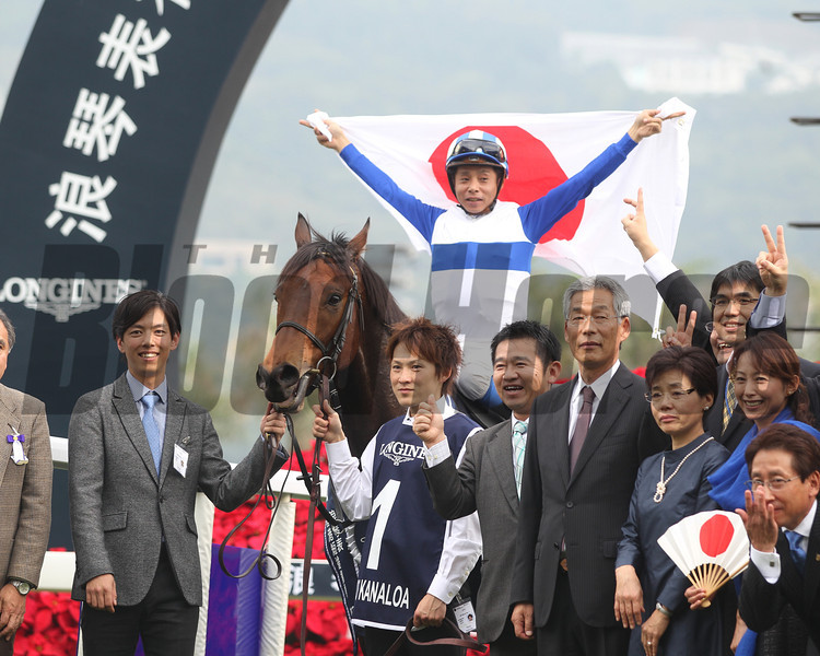 Lord Kanaloa wins the Hong Kong Sprint.<br /> Masakazu Takahashi Photo
