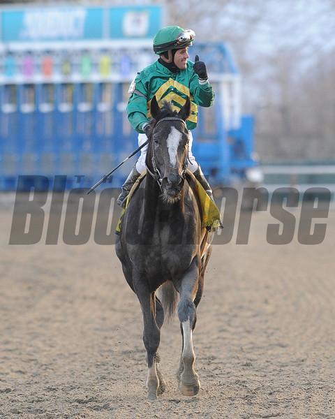 Honor Code wins the 2013 Remsen over Cairo Prince. <br /> Coglianese Photos