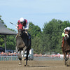 Romansh (left) wins the Curlin Stakes via Disqualification.<br /> Coglianese Photos
