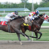 Sr. Quisqueyano wins the 2013 Eight Miles East Stakes.<br /> Coglianese Photos/Leslie Martin
