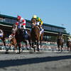 Java's War with Julien Leparoux (outside) aboard wins the 89th Running of The Toyota Blue Grass (Grade I) at Keeneland on April 13, 2013.  Photo by Mark Mahan