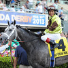 Graydar wins the Donn Handicap (gr. 1)<br /> Jockey: Edgar Prado<br /> GULFSTREAM PARK, Hallandale, FL<br /> Purse: $500,000<br /> Date: February 9, 2013<br /> Class: Grade 1<br /> TV: HRTV<br /> Age: 4 yo's & up<br /> Race: 11<br /> Distance: One And One Eighth Miles<br /> Post Time: 5:32 PM<br /> Photo by: Adam Coglianese