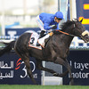 Cavalryman wins the 2013 Dubai Gold Cup.<br /> Mathea Kelley Photo