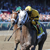 Cross Traffic wins the 2013 Whitney.<br /> Coglianese Photos/Adam Mooshian