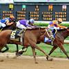 Princess of Sylmar wins the 2013 Kentucky Oaks.<br /> ©Dave Harmon Photo