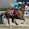 Withgreatpleasure, John Velazquez up, wins the Gr2 Ruffian at Aqueduct.<br /> Coglianese Photos/David Alcosser