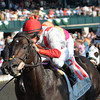 Sumoftheparts wins at Keeneland 10/5/2013.<br /> Mathea Kelley Photo.