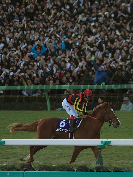 Orfevre wins the Arima Kinen in Japan.<br /> Naoji Inada Photo.