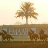 sunrise, Meydan, March 28th, 2013, photo by Mathea Kelley, Dubai World Cup 2013,