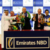 Connections of Shea Shea at the trophy presentation after a victory in the Al Quoz Sprint.<br /> Photo by Dave Harmon