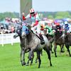 York Glory, Jamie Spencer up, wins the wokingham  Stakes, Royal Ascot; UK, photo by Mathea Kelley; 6/21/13