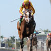 Dreaming of Julia wins the 2013 Gulfstream Oaks.<br /> Coglianese Photos