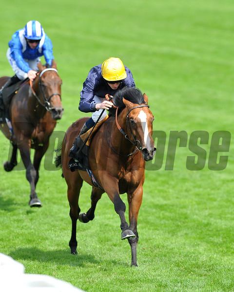 Hillstar, Ryan Moore up wins the King Edward VII Stakes , Royal Ascot; UK, photo by Mathea Kelley; 6/21/13