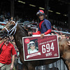 Hall of Fame jockey John Velazquez became the new all-time leading rider at Saratoga Race Course this week when he rode his 694th winner in the fourth race on the card. <br /> Photo by: Adam Coglianese/NYRA