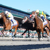 Javas War, Julien Leparoux up, wins the Bluegrass Stakes, Keeneland Race Track, Lexington KY photo by Mathea Kelley 4/13/13;