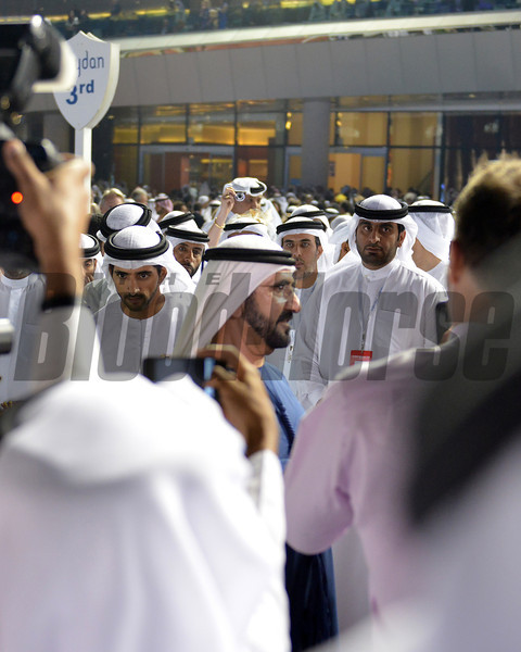 Sheikh Mohammed  , Meydan, March 30th, 2013, photo by Mathea Kelley<br /> Dubai World Cup Day