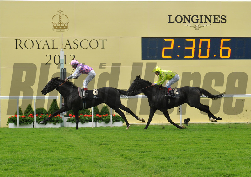 Thomas Chippendale, Johnny Murtagh up, wins the Hardwicke Stakes, Royal Ascot; UK, photo by Mathea Kelley; 6/21/13