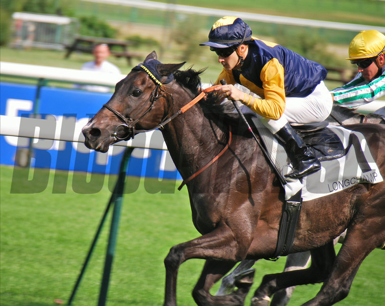 Please find attached photo of Hard Way and jockey C. Lemaire, at the finish of the Prix Du Vieux Colombier Handicap race over 3,100 metres at Longchamp July 6.