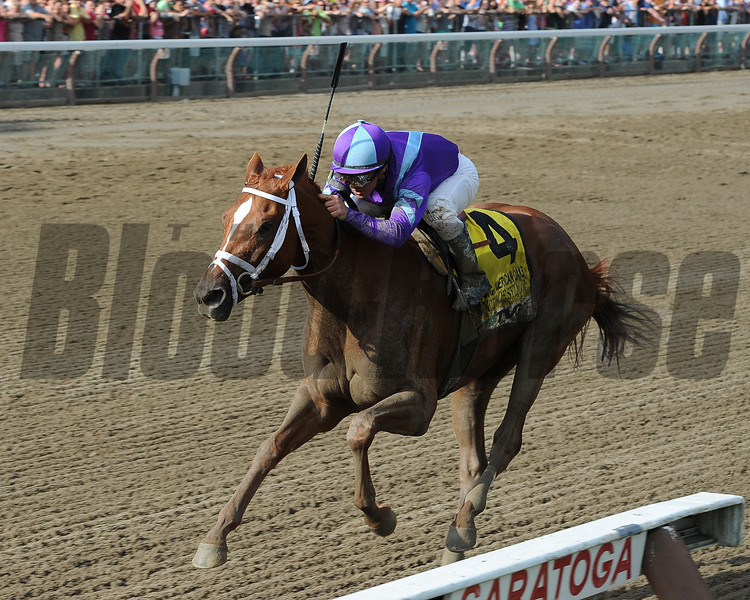 Princess of Sylmar wins the 2013 CCA Oaks.<br /> Coglianese Photos/Chelsea Durand