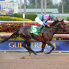 Itsmyluckyday wins the 2012 Gulfstream Park Derby.<br /> Coglianese Photos