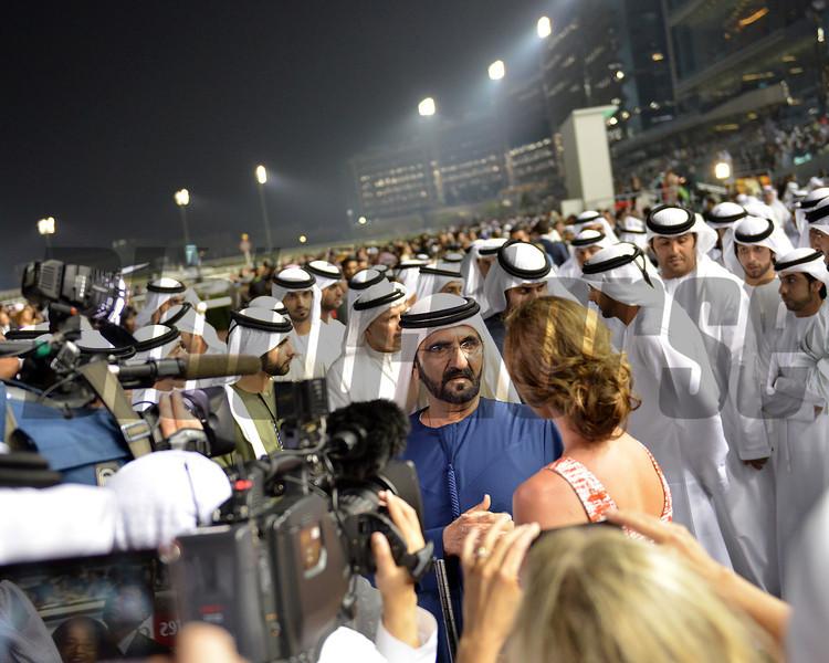 Shiek Mohammoud  , Meydan, March 30th, 2013, photo by Mathea Kelley<br /> Dubai World Cup Day