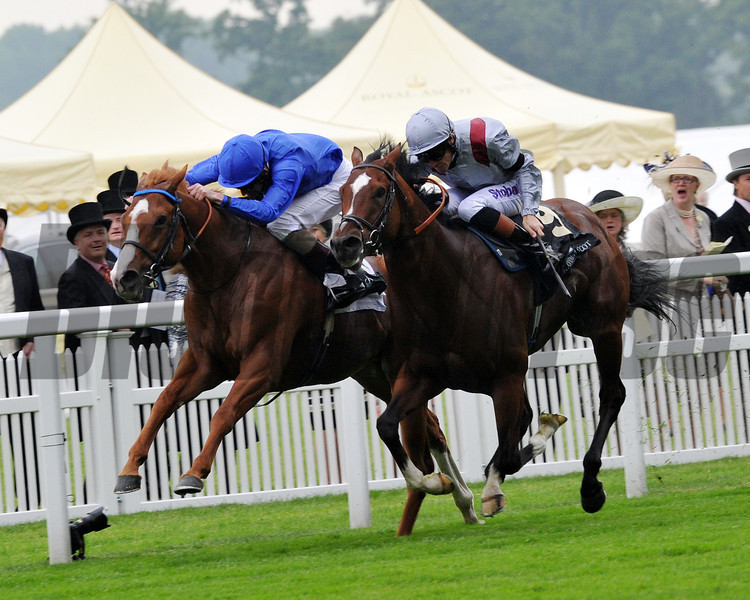 Dawn Approach Kevin Manning up, wins the St James Place Stakes, Royal Ascot; UK, photo by Mathea Kelley;