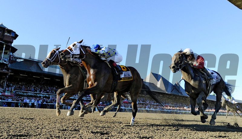 Will Take Charge wins the 2013 Travers Stakes.<br /> Skip Dickstein Photo