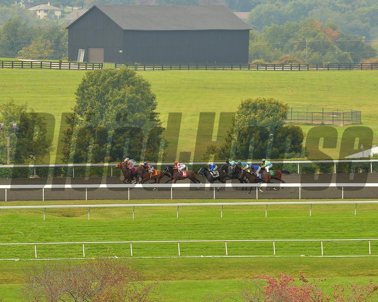 Rainy opening weekend , Keeneland Race Course, Lexington, KY, 10/6/13, photo by Mathea Kelley;